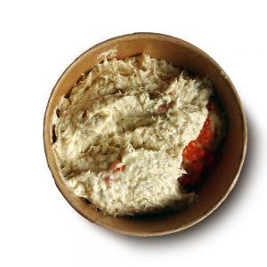 Gerookte forelsalade (circa 130 gr.)
